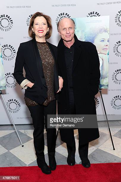 Annette Bening and Ed Harris attend 'The Face Of Love' premiere at The Paley Center for Media on March 5 2014 in New York City