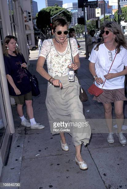 Annette Bening and friend during Annette Bening Sighting in Westwood June 9 1995 at Westwood California in Westwood California United States