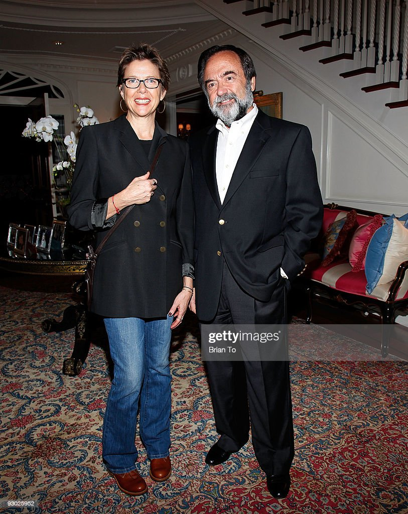 Annette Bening and Lou Gonda attend Annette Bening And Kelly and Lou Gonda Host Actors Fund Cocktail Reception on November 12, 2009 in Beverly Hills, California.