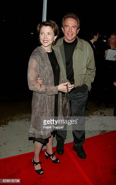 Annette Bening and Warren Beatty arrive at the Academy of Motion Picture Arts Sciences