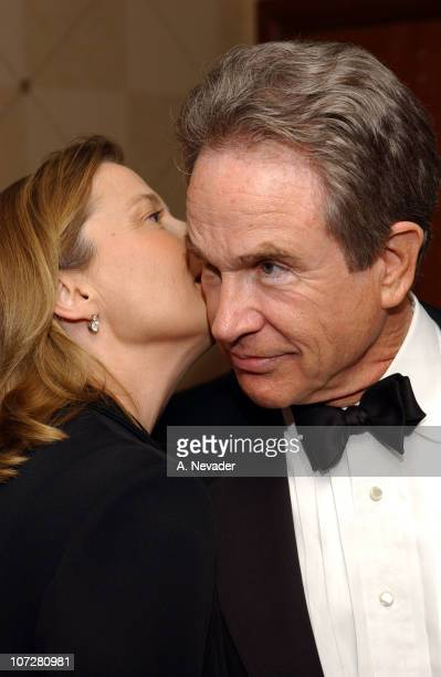 Annette Bening and Warren Beatty at the San Francisco Film Society awards night in San Francisco Thursday April 25 2002 Beatty was to receive the...