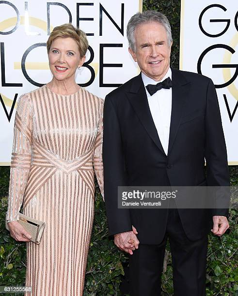 Annette Bening and Warren Beatty attend the 74th Annual Golden Globe Awards at The Beverly Hilton Hotel on January 8 2017 in Beverly Hills California