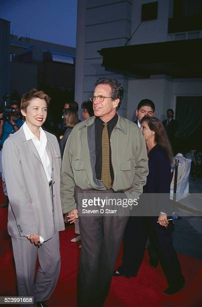 Annette Bening and Warren Beatty attend the premier of the 1995 film The Bridges of Madison County