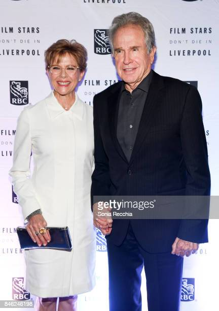 Annette Bening and Warren Beatty attend the RBC hosted 'Film Stars Don't Die in Liverpool' cocktail party at RBC House Toronto Film Festival on...