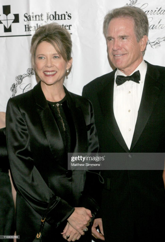 Annette Bening and Warren Beatty during 2006 St Johns Health Center Caritas Gala October 14 2006 at Regent Beverly Wilshire in Beverly Hills...