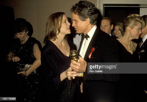 Annette Bening and Warren Beatty during 49th Annual Golden Globe Awards at Beverly Hilton Hotel in Beverly Hills California United States