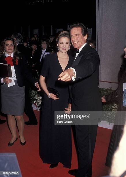 Annette Bening and Warren Beatty during 64th Annual Academy Awards at Dorothy Chandler Pavilion in Los Angeles California United States