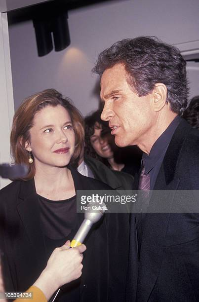Annette Bening and Warren Beatty during Annual DW Griffith Awards Febuary 24 1992 at Equitable Center in New York City New York United States