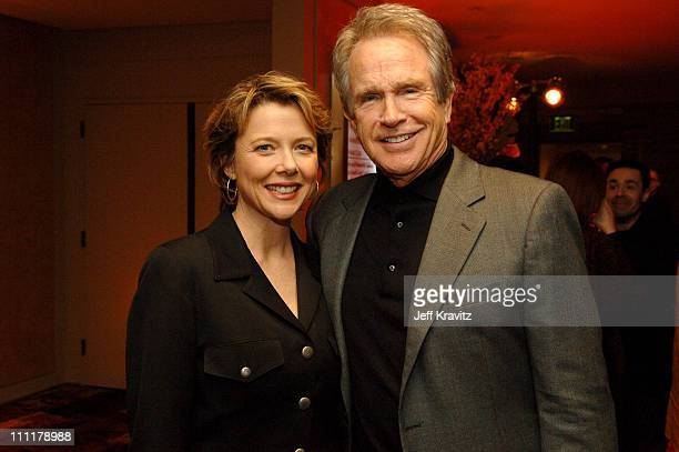 Annette Bening and Warren Beatty during HBO Films' 'Mrs Harris' Los Angeles Premiere After Party at Geffen Playhouse in Los Angeles California United...