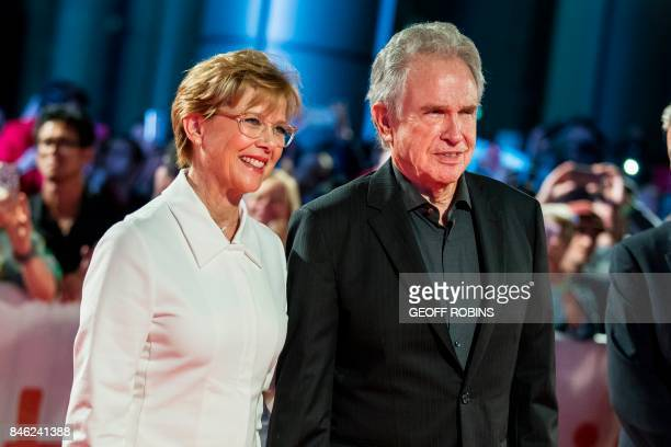 Annette Bening and Warren Beatty pose for photographers at the premiere of 'Film Stars Don't Die in Liverpool' at the Toronto International Film...
