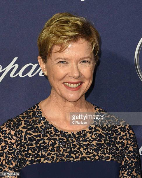 Annette Bening arrives at the 28th Annual Palm Springs International Film Festival Film Awards Gala at Palm Springs Convention Center on January 2...