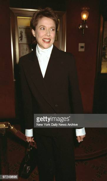 Annette Bening attending premiere of movie 'Primary Colors' at the Ziegfeld Theatre