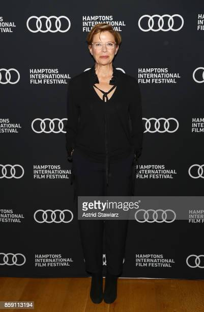 Annette Bening attends a photo call for 'Film Stars Don't Die in Liverpool' during Hamptons International Film Festival 2017 Day Four on October 8...