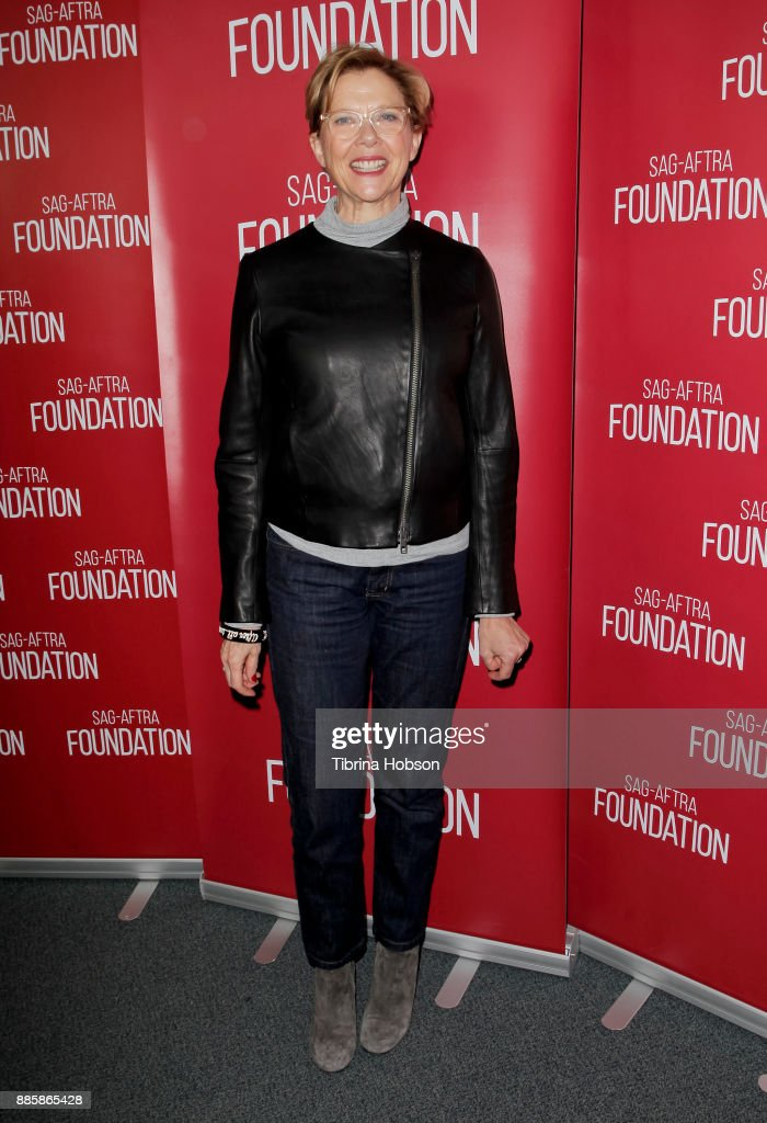 Annette Bening attends SAG-AFTRA Foundation's conversation and screening of 'Film Stars Don't Die In Liverpool' at SAG-AFTRA Foundation Screening Room on December 4, 2017 in Los Angeles, California.