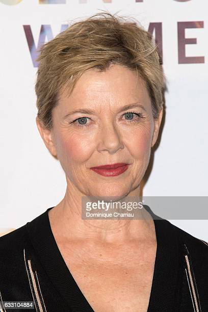 Annette Bening attends the '20th Century Women' Paris Premiere at Les Halles on January 30 2017 in Paris France