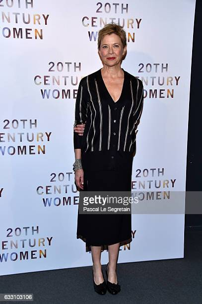 Annette Bening attends the '20th Century Women' Premiere at Les Halles on January 30 2017 in Paris France