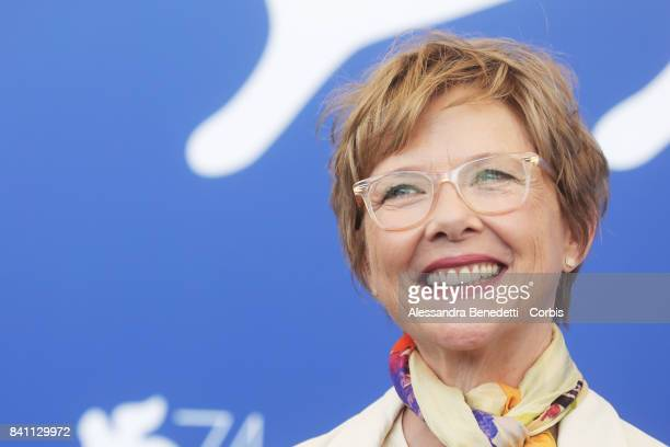 Annette Bening attends the Jury photocall during the 74th Venice Film Festival on August 30 2017 in Venice Italy