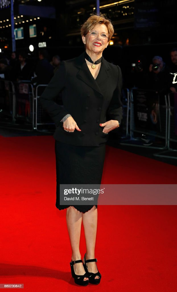 Annette Bening attends the Mayfair Gala & European Premiere of 'Film Stars Don't Die in Liverpool' during the 61st BFI London Film Festival on October 11, 2017 in London, England.