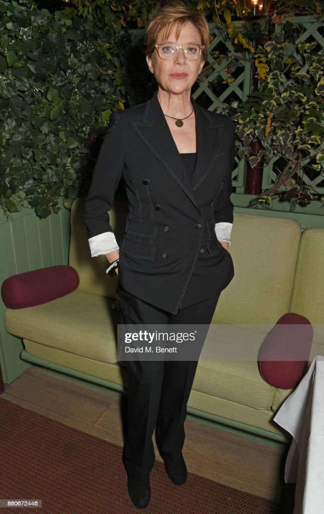 Annette Bening attends the PORTER & Lionsgate UK after party for 'Film Stars Don't Die In Liverpool' at Mark's Club on October 12, 2017 in London, England.