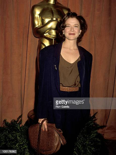 Annette Bening during 63rd Academy Awards Nominees Luncheon at Beverly Hilton Hotel in Beverly Hills CA United States