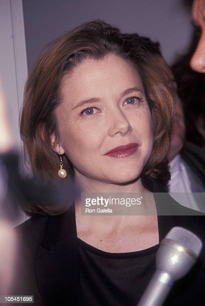 Annette Bening during Annual DW Griffith Awards Febuary 24 1992 at Equitable Center in New York City New York United States