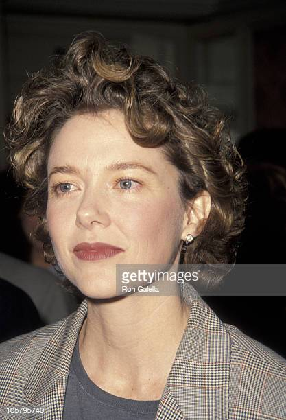 Annette Bening during Education First Week Honors CBS Entertainment February 4 1992 at Beverly Wilshire Hotel in Beverly Hills California United...