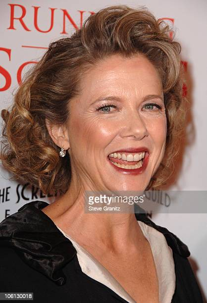 Annette Bening during 'Running with Scissors' World Premiere Arrivals at The Academy in Beverly Hills California United States