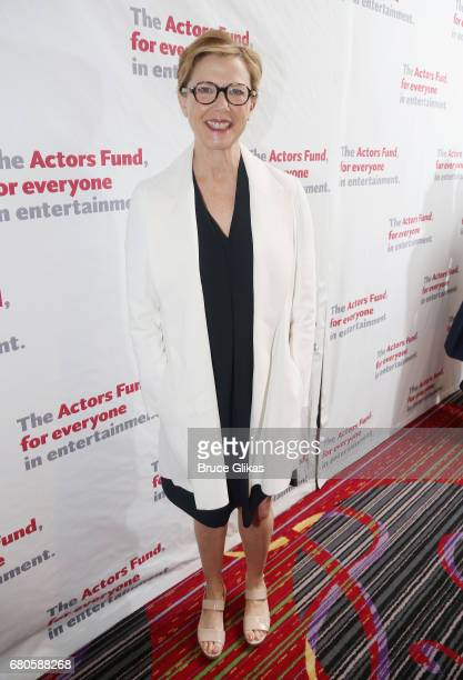 Annette Bening poses at the The 2017 Actors Fund Gala honoring Danny DeVito and Sally Field at The Marriott Marquis Times Square on May 8 2017 in New...