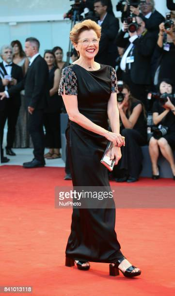 Annette Bening walks the red carpet ahead of the 'Downsizing' screening and Opening Ceremony during the 74th Venice Film Festival at Sala Grande on...