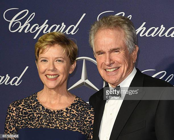 Annette Bening Warren Beatty arrives at the 28th Annual Palm Springs International Film Festival Film Awards Gala at Palm Springs Convention Center...