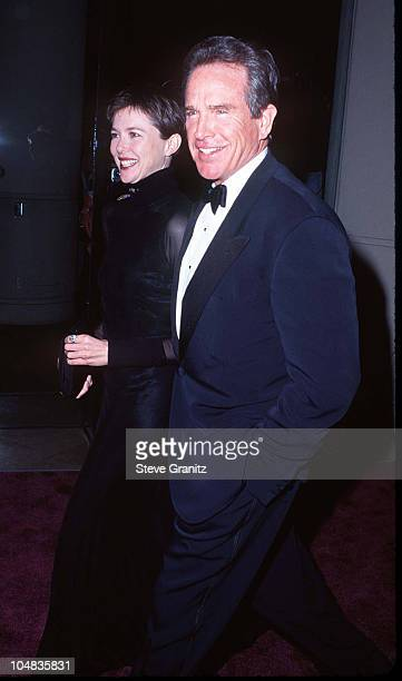 Annette Bening Warren Beatty during American Film Institute Honors Clint Eastwood with 1996 Life Achievement Award at Beverly Hilton Hotel in Beverly...