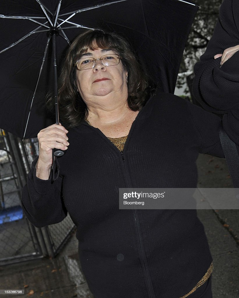 Annette Bongiorno, a former employee at Bernard L. Madoff Investment Securities LLC, exits federal court in New York, U.S., on Tuesday, Oct. 2, 2012. Five longtime employees of Bernard Madoff's former investment firm face more charges related to the jailed con man's Ponzi scheme, which the government claims got its start in the 1970s. Photographer: Peter Foley/Bloomberg via Getty Images