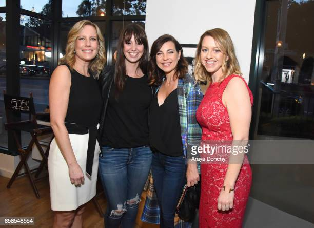 Annette Bourland guests Sara Merritt attend Natasha Bure 'Let's Be Real' Los Angeles book launch party at Eden By Eden Sassoon on March 24 2017 in...