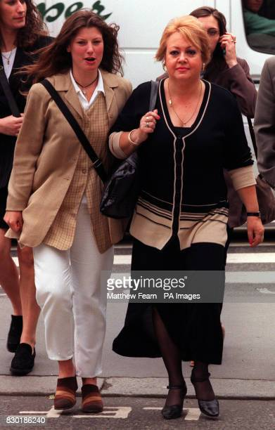 Annette Childs the adoptive mother of Dayne Childs and Kirsten Milton Daynes girlfriend at the High Court where the decision is being made to where...