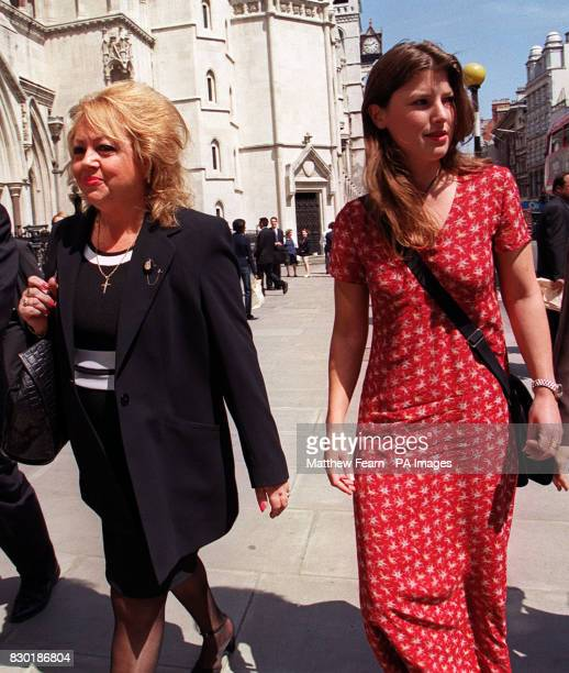 Annette Childs the adoptive mother of Dayne Childs and Kirsten Milton Daynes' girlfriend leave the High Court in London after Annette Childs was...