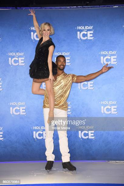 Annette Dytrt and Yannick Bonheur during the Holiday on Ice Season Opening 2017/18 at Volksbank Arena on October 12 2017 in Hamburg Germany