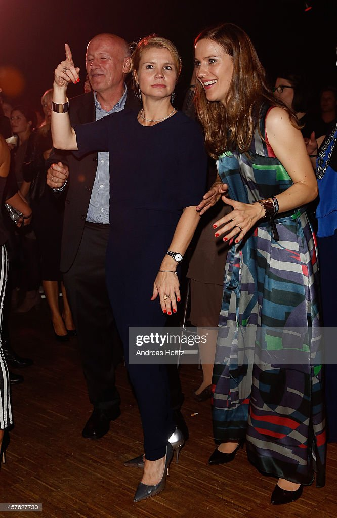 Annette Frier and Bettina Lamprecht attend the after show party at the 18th Annual German Comedy Awards at Coloneum on October 21, 2014 in Cologne, Germany. The show will be aired on RTL on October 25.