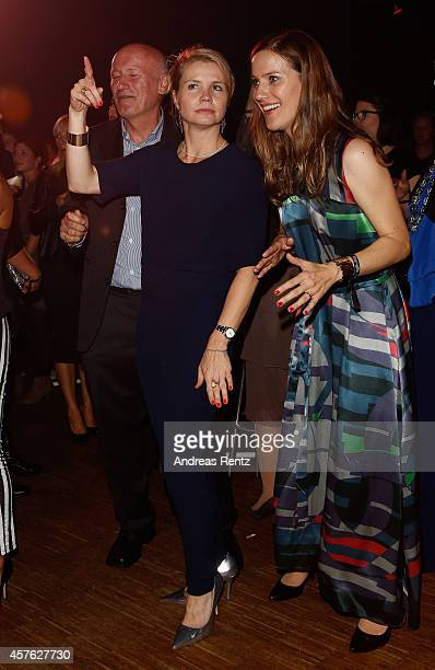 Annette Frier and Bettina Lamprecht attend the after show party at the 18th Annual German Comedy Awards at Coloneum on October 21 2014 in Cologne...
