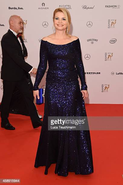 Annette Frier attends Kryolan at the Bambi Awards 2014 on November 13 2014 in Berlin Germany