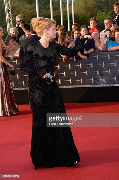 Annette Frier attends the red carpet of the Deutscher Fernsehpreis 2014 at Coloneum on October 2 2014 in Cologne Germany
