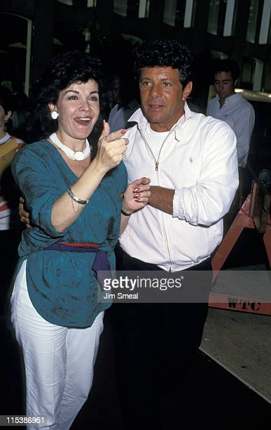 Annette Funicello and Frankie Avalon during 1st Annual Yago Beach Party Promotion of 'Back To The Beach' at World Trade Center in New York City New...