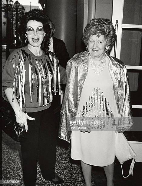 Annette Funicello and mother during 50th Annual Motion Picture Celebrity Christmas Luncheon 1989 at Beverly Wilshire Hotel in Beverly Hills...