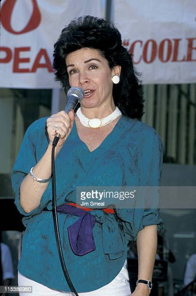 Annette Funicello during 1st Annual Yago Beach Party Promotion of 'Back To The Beach' at World Trade Center in New York City New York United States