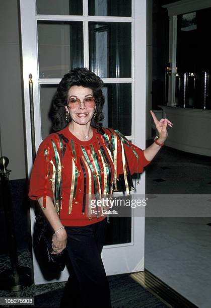 Annette Funicello during 50th Annual Motion Picture Celebrity Christmas Luncheon 1989 at Beverly Wilshire Hotel in Beverly Hills California United...