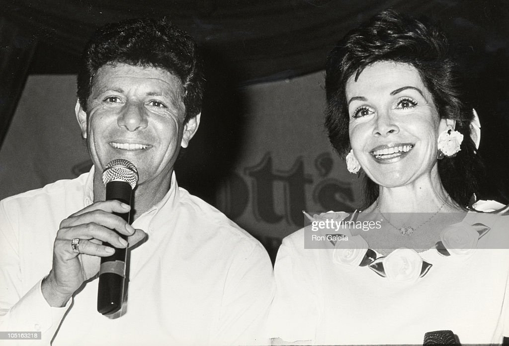 Annette Funicello & Frankie Avalon during Frankie Avalon & Annette Funicello Concert Tour at Calico Square, Knott's Berry Farm in Buena Park, California, United States.