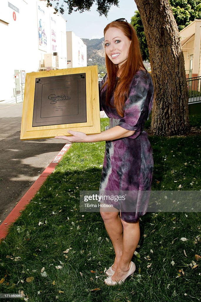 Annette Funicello's granddaughter, Jill Mcduffie attends the stage one rededication ceremony hosted by Walt Disney Company CEO Bob Iger honoring 'America's Sweetheart' Annette Funicello at Walt Disney Studios on June 24, 2013 in Burbank, California.