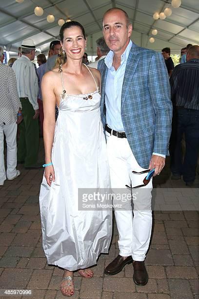 Annette Lauer and Matt Lauer attend the 2015 Hamptons Classic Grand Prix on August 30 2015 in Bridgehampton New York