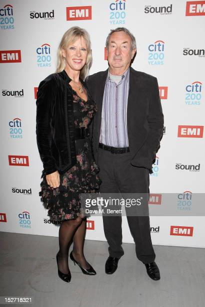 Annette Mason and Nick Mason arrive at the EMI Music Sound Foundation fundraiser at Somerset House on September 24 2012 in London England