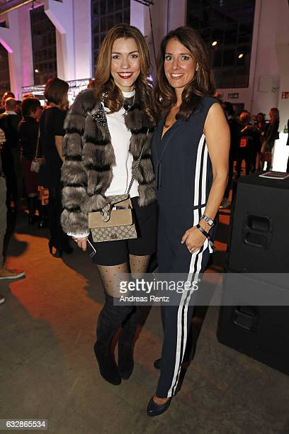 Annette Moeller and Elena Bruhn attend the Breuninger after party during Platform Fashion January 2017 at Areal Boehler on January 27 2017 in...