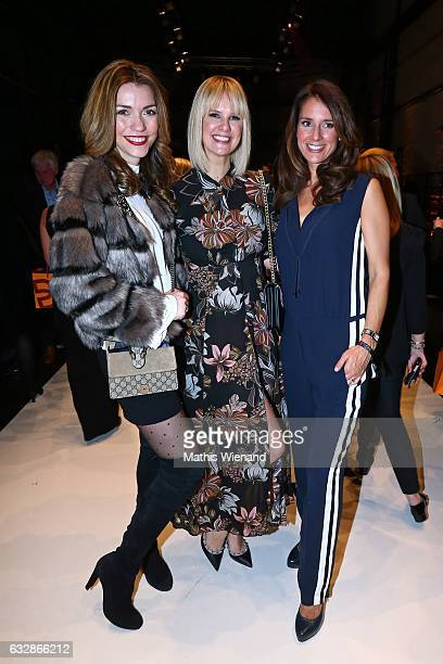 Annette Moeller Monica Ivancan and Elena Bruhn attend the Breuninger after party during Platform Fashion January 2017 at Areal Boehler on January 27...